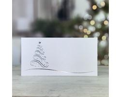 Novoroční PF karta GL214 - bílá / stříbrná