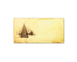 Novoroční PF karta GL2141 - krémová / zlatá