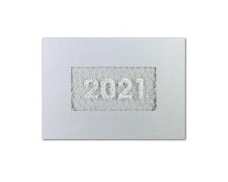 Otevírací novoročenka GL2143 - stříbrná / bílá
