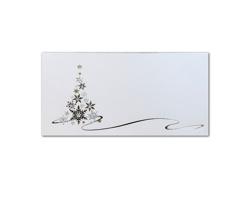 Novoroční PF karta GL2147 - bílá / stříbrná