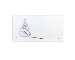 Novoroční PF karta GL2148 - bílá / stříbrná