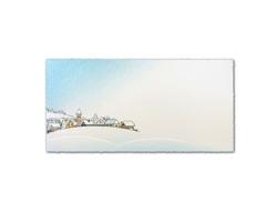 Novoroční PF karta GL2150 - bílá / modrá