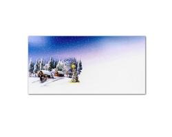 Novoroční PF karta GL2151 - bílá / modrá