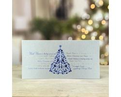 Otevírací novoročenka GL219 - modrá / stříbrná