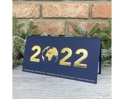 Otevírací novoročenka GL2201 - tmavě modrá / zlatá / stříbrná