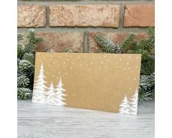 Novoroční PF karta GL2204 - přírodní / bílá