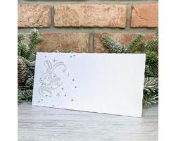 Novoroční PF karta GL2211 - bílá / stříbrná