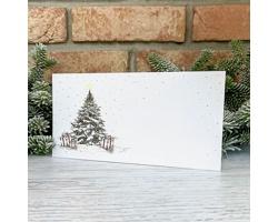 Novoroční PF karta GL2219 - bílá / zlatá