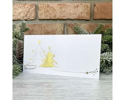 Novoroční PF karta GL2229 - bílá / stříbrná / zlatá