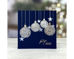 Otevírací novoročenka GL224 - modrá / zlatá / stříbrná