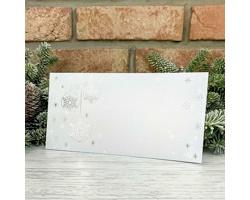 Novoroční PF karta GL2240 - bílá / stříbrná