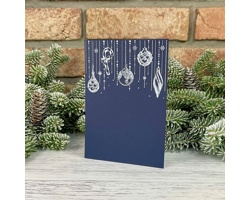 Novoroční PF karta GL2242 - tmavě modrá / stříbrná
