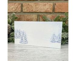 Novoroční PF karta GL2244 - bílá / modrá