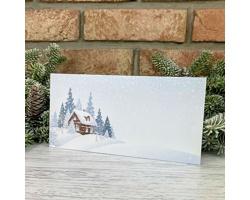 Novoroční PF karta GL2245 - bílá / modrá