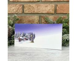 Novoroční PF karta GL2246 - bílá / modrá