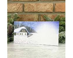Novoroční PF karta GL2249 - bílá / modrá