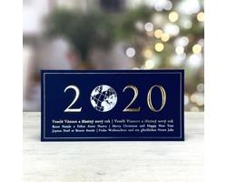 Otevírací novoročenka GL226 - modrá / stříbrná / zlatá