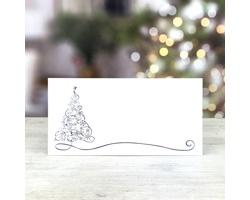 Novoroční PF karta GL227 - bílá / modrá / stříbrná