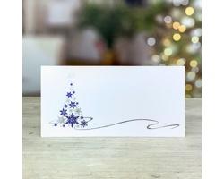 Novoroční PF karta GL228 - bílá / modrá / stříbrná