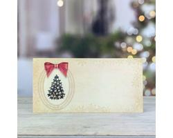 Novoroční PF karta GL231 - krémová / zlatá / červená