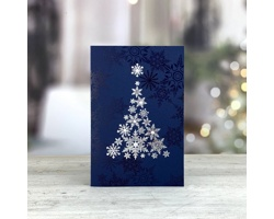 Otevírací novoročenka GL237 - modrá / stříbrná