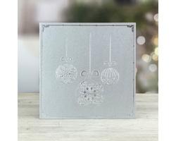 Otevírací novoročenka GL238 - stříbrná