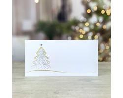 Novoroční PF karta GL242 - bílá / zlatá / stříbrná