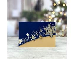 Otevírací novoročenka GL243 - modrá / zlatá