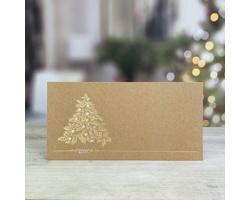 Novoroční PF karta GL244 - krémová / zlatá / stříbrná