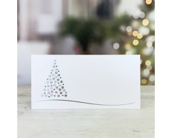 Novoroční PF karta GL245 - bílá / stříbrná / zelená