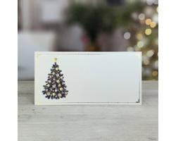 Novoroční PF karta GL249 - bílá / zlatá