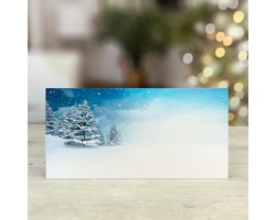 Novoroční PF karta GL250 - bílá / modrá