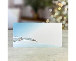 Novoroční PF karta GL251 - bílá / modrá