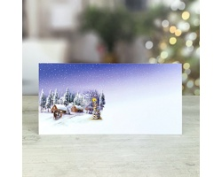 Novoroční PF karta GL252 - bílá / modrá