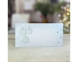 Novoroční PF karta GL253 - bílá / stříbrná