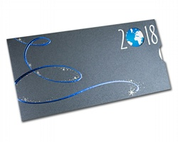 Vysouvací novoročenka GL814 - stříbrná / modrá / bílá
