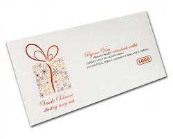 Novoroční PF karta GL825 - bílá / červená / zlatá