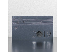 Otevírací novoročenka GL910 - šedá / stříbrná
