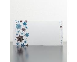 Novoroční PF karta GL912 - bílá / modrá / červená