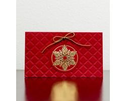 Otevírací novoročenka GL915 - červená / zlatá