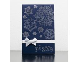 Otevírací novoročenka GL925 - modrá / stříbrná