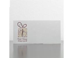 Novoroční PF karta GL926 - bílá / červená / zlatá