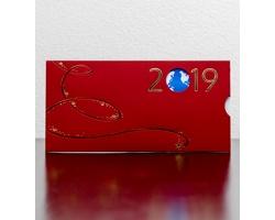 Vysouvací novoročenka GL932 - červená / zlatá / modrá