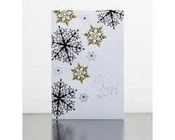 Otevírací novoročenka GL935 - bílá / stříbrná / zlatá