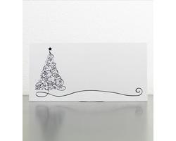 Novoroční PF karta GL939 - bílá / stříbrná / modrá