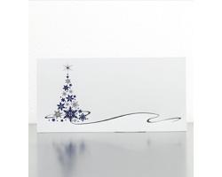 Novoroční PF karta GL941 - bílá / modrá / stříbrná