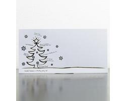 Novoroční PF karta GL942 - bílá / zlatá / stříbrná