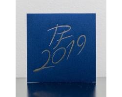 Otevírací novoročenka GL943 - modrá / stříbrná