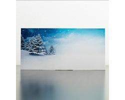Novoroční PF karta GL952 - bílá / modrá
