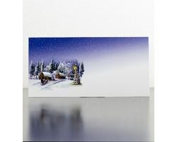 Novoroční PF karta GL953 - bílá / modrá